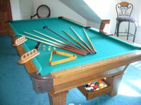 For sale a wonderful 9 foot Olhausen Pool Table. This