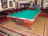 FOR SALE 9 FT POOL TABLE. CONDITION: REFURBISH (NEW