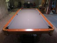 Real Hardwood Furniture Grade Pool Table with 3 piece