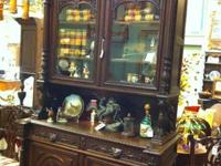 Stunning carved to death German Seekers cabinet.