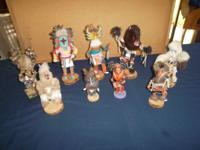 9-Kachina Dolls $40.00 each, or make an offer for all,