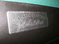 Here is a used but nice condition Olhausen pool table.