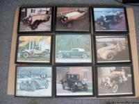 vintage cars in frames all in good
