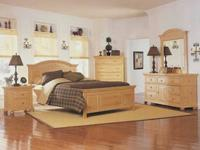 The attractive and widely known Broyhill, solid wood,