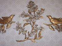 9 PIECE VINTAGE HOME INTERIOR Includes 3 pc gold bird
