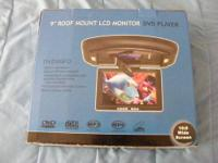 "I have a 9"" Roof mount LCD Moniter DVD Player that has"