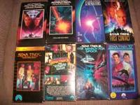 Here is 9 Star Trek Movies Near Mint , some wear on the