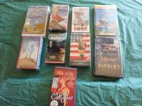 here are 9 vhs movies, still sealed, to include,