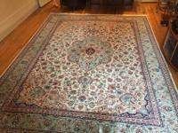 9' x 12' Chinese Oriental Rug - Wool and Silk - Hand