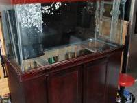 For sale is a 90 gallon drilled aquarium that is in