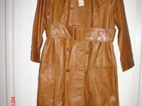 NWT Arden B Tan Leather Coat New with Tags Arden B
