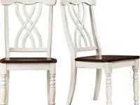 Ohana Side Chairs - Set of 2, White / Oak (still in the