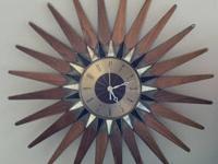 Original Vintage Seth Thomas Clock Co. Starburst