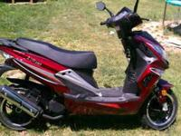 This is like new it is a 2011 50cc 2-stroke moped with