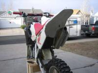 for sale is a 2001 honda cr 80 expert big wheel. its in