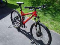 KHS XC-204 24 speed full suspension mountain bike 17""