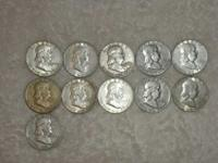 . I HAVE nine PEACE SILVER DOLLARS,5 MORGAN SILVER