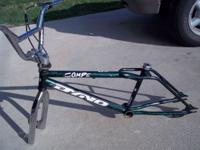 96 dyno compe green splatter paint freestyle frame fork