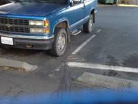 1991 Chevy 1500 Silverado, 4x4, Automatic, 8 Cylinder,