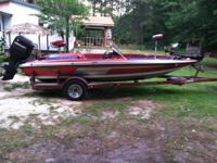 91 javelin bass boat.115 hp mercury. ready for the