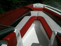 Red and White Boat, excellent condition, custom snap on