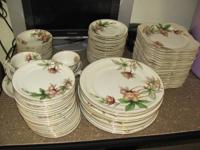 Woodrose Ivory China set. 91 pieces complete. A couple