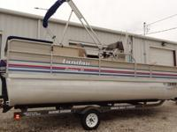 92 20 Ft Landau Pontoon Boat- 90 HP nissian with power