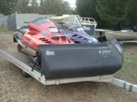 TWO SNOWMOBILES WITH TRAILER PKG DEAL 96 DRINE ON DRIVE