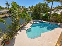 Waterfront deep water 2 story home on full lot.