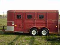 1993 CM Competitor Trailer, 3 Horse slant load, Bumper