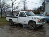93 chevy 1 ton good bed &doors, trans good bad
