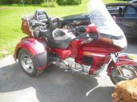 1993 Honda Goldwing with a brand name new Motor Trike