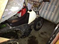 Used. 93 Yamaha PW 80 dirt bike. Clutchless 3 speed.