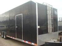 1994 MATHEES 8.5X30 LOADED ENCLOSED TRAILER,8.5'