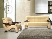 940 Max West 3 Pcs. Modern Beige Geniune Leather Sofa