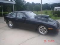 1985 944 PORSCHE TUBE CHASSIS DRAG RACE CAR, 4 LINK,