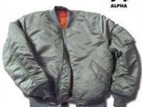 Alpha MA-1 Flight Jacket (Sage Green ) FREE SHIPPING
