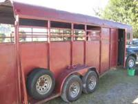 1995 Colt horse/open stock trailer will hold 4-5 horses