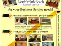 Office Plans Available at The NMBBC as low as $95 per