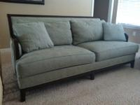 Good condition. The Palma Sofa by Ethan Allen inspires