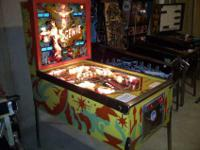 Up for sale is a very nice Genie pin ball by Gottlieb.