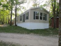New Shult Mobile Home on Leech Lake. Home is on a