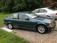 1996 bmw 328i green 4 door sedan with tan leather