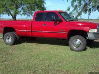 96 Dodge Truck for Sales, Red Pre-own 3500, 4x4,