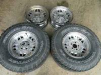 i have up for sale the set of four ford ranger wheels,