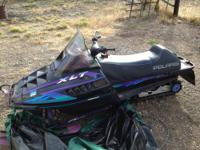 Snowmobile 96 Polaris XLT RMK INDY 600 , model 0960956,