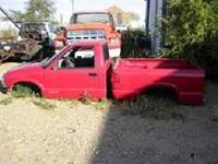 HAVE THE BODY OFF OF A 06 S-10 PU FOR SALE. IT'S RED