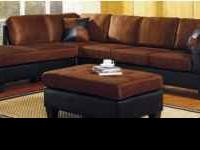 Brand NEW Chocolate Two Tone Sectional!! Includes the