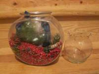 Two fishbowls (one medium sized, one small). Includes