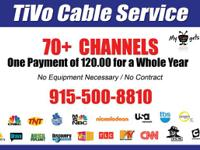 One time payment of 120 and you receive 70 channels of